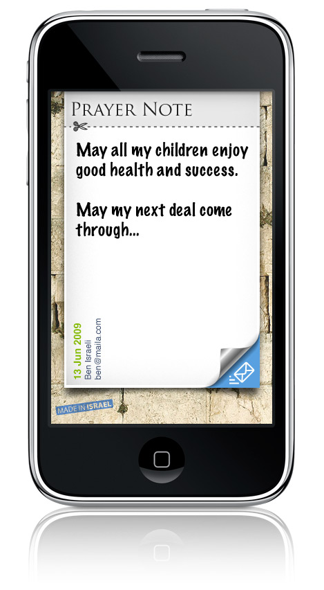 iPhone with Kotel Notes