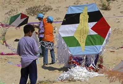 MIDEAST ISRAEL PALESTINIANS KITE RECORD
