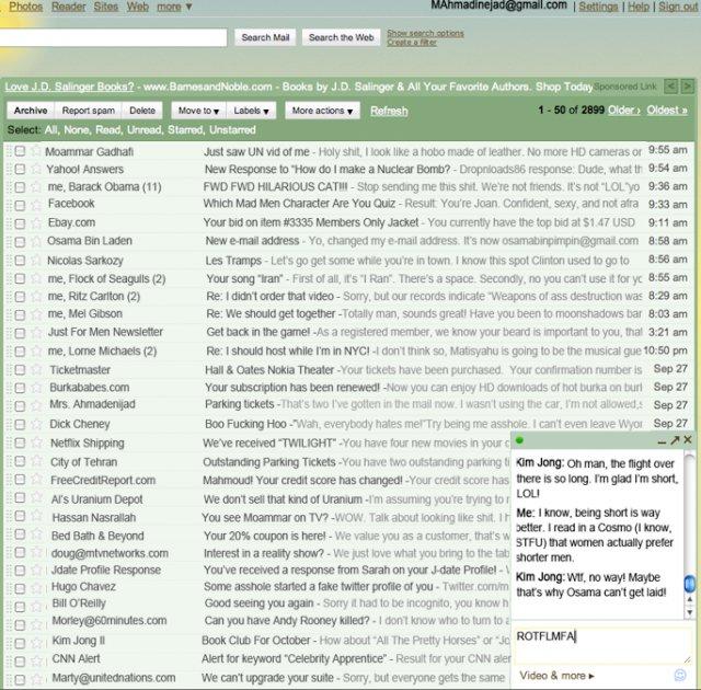 Ahmadinejad's Inbox